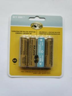 2 packs AA Battery NiCM- 4 Pack- Solar Nickel-Cadmium Rech