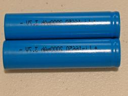 2 pc 16650 Li-ion RECHARGEABLE BATTERY 3.7v LITHIUM  2000mAh