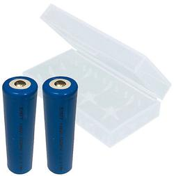 2-PK 3.7V Li-Ion 2200mAh 18650 Rechargeable Button Top Batte