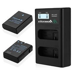 Powerextra 2 x EN-EL14 EN-EL14a Battery & Dual LCD Charger C