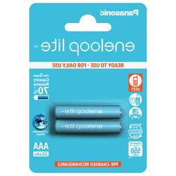 2 x Panasonic Eneloop Lite AAA 550 mAh Rechargeable Batterie