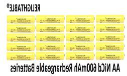 20 AA Rechargeable Batteries NiCd 600mAh 1.2v Garden Solar N