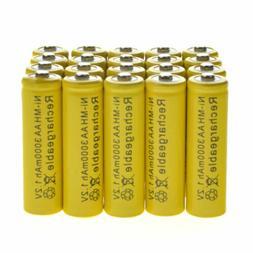 20 AA Rechargeable Yellow Battery NiMH 3000mAh 1.2v Garden S