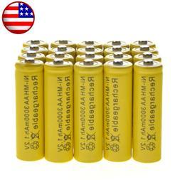 20 AA Rechargeable Battery NiMH 3000mAh 1.2v Garden Solar Ni