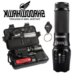 20000lm CREE LED tactical Shadowhawk X800 Flashlight Zoomabl