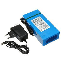 20000mAh Li-ion Super Rechargeable Battery  DC 12V Pack  AC