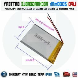2000mAh 3.7V lipo rechargeable Battery 505068 polymer lithiu