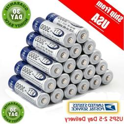 20pcs AA BTY Rechargeable Battery 3000mAh Ni-MH 1.2V Battery