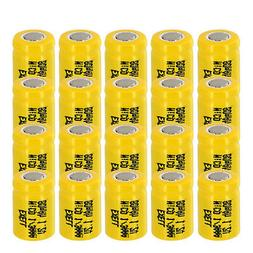 20x 1/3AAA 80mAh 1.2V Flat top Rechargeable Battery For Sola