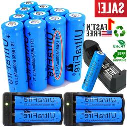 20X UltraFire 18650 Battery 3.7V 6000mAh Li-ion Rechargeable
