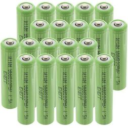 20x Exell 1.2V NIMH AAA 800mAh Rechargeable Button Top Batte