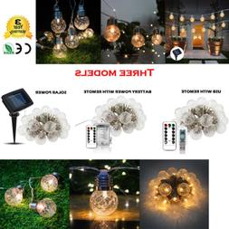 20X Solar Power Rechargable USB Battery Bulb Xmas Festival D