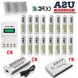 2300mah aa rechargeable batteries pack charger