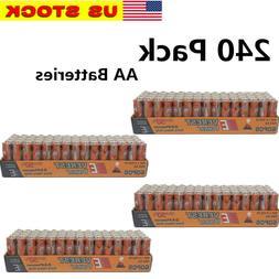 240 AA Batteries Extra Heavy Duty 1.5v. Wholesale Lot New Fr
