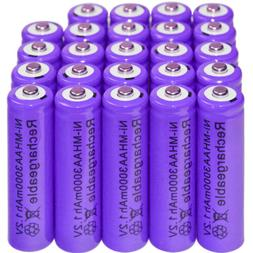24x AA 3000mAh 1.2 V Ni-MH rechargeable battery Purple for M