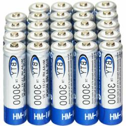 24x AA 3000mAh 1.2 V Ni-MH rechargeable battery BTY cell for