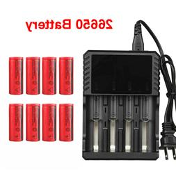 26650 Battery 3000mAh 3.7V Flat Top Li-ion Rechargeable Batt