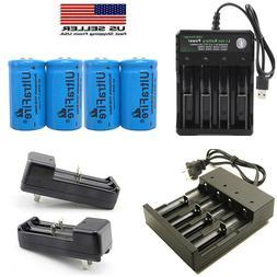 2800mAh 16340 Battery CR123A Rechargeable 3.7V Li-ion Batter