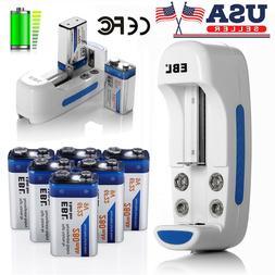 EBL 280mAh 9V 6F22 Ni-Mh Rechargeable Batteries Pack / 9 Vol