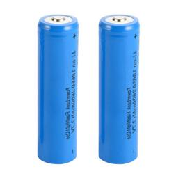 2pcs 18650 Battery 3.7V 2600mAh Rechargeable Li-ion Lithium