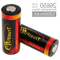 2pcs! TrustFire 3.7V 26650 High Capacity 5000mAh <font><b>Re
