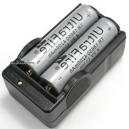 2PCS 4200mAh 4.2v li-ion 18650 Rechargeable Household Batter