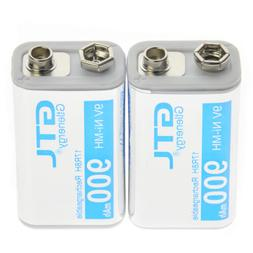 2pcs 9V 900mAh 17R8H block rechargeable battery GTL PPS NiMH