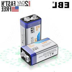 2x EBL 280mAh 9 Volt 9V 6F22 Ni-MH Nickel Metal Hydride Rech