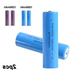 2x 3.7V 1200/1500mAh 18650 Rechargeable Li-ion Battery Lithi