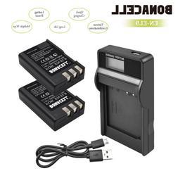 2x Battery+Charger forNikon EN-EL9 D40 D60 D3000D5000 Digita