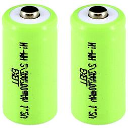2x Exell 2/3AA NiMH 700mAh 1.2V Button top Rechargeable Batt