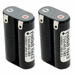 2x Exell 4.8V 1600mAh NiMH Battery w/Tabs for Hobby Packs Re