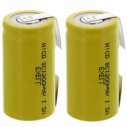 2x Exell SubC 1.2V 1500mAh NiCD Rechargeable Batteries with