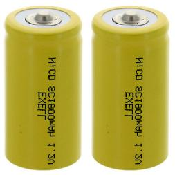 2x Exell SubC 1.2V 2000mAh NiCD Button Top Rechargeable Batt