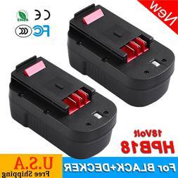 2 Pack 3600mAh for Black & Decker 18V HPB18 HPB18-OPE A18E F