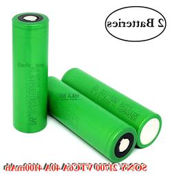 2x Sony Murata VTC6A IMR21700 4100mAh 40A Rechargeable Flat