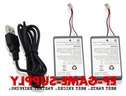 2x rechargeable battery for ps4 controller 1000mah