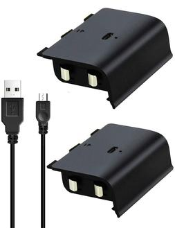 2x Xbox One S Wireless Controller Rechargeable Battery Pack