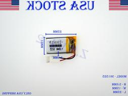 3.7V 100mAh 361525 Lithium Polymer LiPo Rechargeable Battery