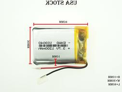 3.7V 1200mAh 103040 Lithium Polymer LiPo Rechargeable Batter