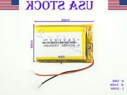 3.7V 1500mAh 803450 Lithium Polymer  Li-ion Rechargeable Bat