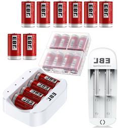 EBL 3.7V 16340 CR123A Li-ion Rechargeable Battery w/ USB Cha