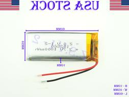 3.7V 1800mAh Lithium Polymer Rechargeable Battery