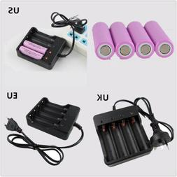3.7V 18650 Battery OR AC 4 SLOTS Charger Apply To Flashlight