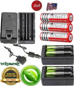 3.7v 18650 Rechargeable Battery Li-ion Flashlight Torch Batt