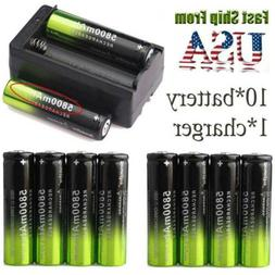 3.7v 18650 Rechargeable Li-ion Flashlight Battery Torch Batt