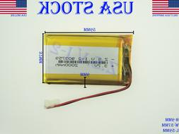3.7V 2000mAh 903759  Lithium Polymer LiPo Rechargeable Batte