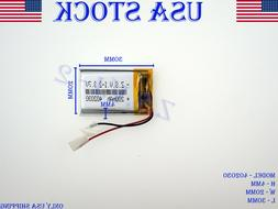3.7V 200mAh 402030 Lithium Polymer LiPo Rechargeable Battery