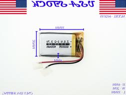 3.7V 400mAh 602035 Lithium Polymer LiPo Rechargeable Battery