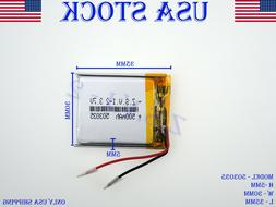 3.7V 500mAh 503035 Lithium Polymer LiPo Rechargeable Battery